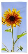 Sunflower In The Sky Beach Towel