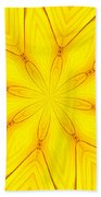 Sunflower Kaleidoscope 1 Beach Towel
