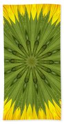 Sunflower Kaleidoscope 3 Beach Towel
