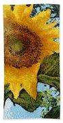 Sunflower Light Beach Towel