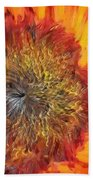 Sunflower Lv Beach Towel
