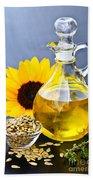 Sunflower Oil Bottle Beach Towel