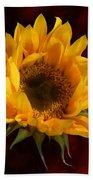 Sunflower Opening Beach Towel