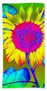 Sunflower Pop Beach Towel