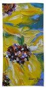 Sunflower Quartet Beach Towel