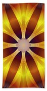 Sunflower Rose Beach Towel