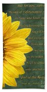 Sunflower Scripture Beach Towel