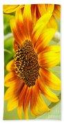 Sunflower Side Portrait Beach Towel