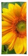 Sunflower Smile Beach Towel