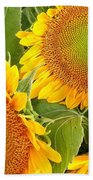 Sunflower Smiles Beach Towel