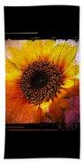 Sunflower Sunset - Art Nouveau  Beach Towel
