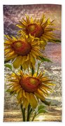Sunflower Trio Beach Towel
