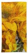 Sunflower Trio Beach Towel