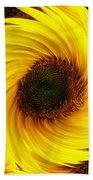 Sunflower Twirl Beach Towel