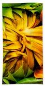 Sunflower Volunteer Beach Towel