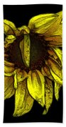 Sunflower With Contours Effect Beach Towel