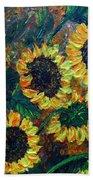 Sunflowers 2 Beach Towel