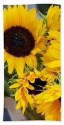 Sunflowers At Market Beach Towel