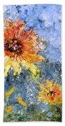 Sunflowers In Bloom Beach Towel
