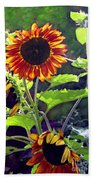 Sunflowers In The Park Beach Towel
