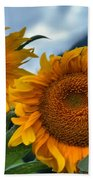 Sunflowers In The Wind Beach Towel