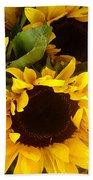Sunflowers Tall Beach Towel