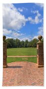 Sunken Garden At William And Mary Beach Towel
