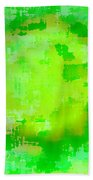 Original Abstract Art Painting Sunlight In The Trees  Beach Towel