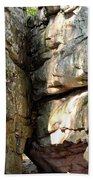 Sunlit Boulder On Shades Mountain Beach Towel