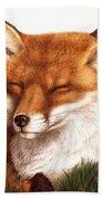 Sunnin' Red Fox Beach Towel