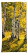 Sunny Birch Beach Towel
