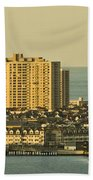 Sunny Day In Atlantic City Beach Towel by Trish Tritz