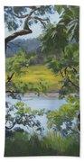 Sunny River Beach Towel