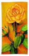 Sunny Rose Beach Towel