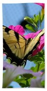 Sunny Tiger Swallowtail  Beach Towel