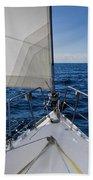 Sunny Yacht Bow Beach Towel