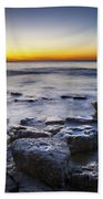Sunrise At Cave Point Beach Towel