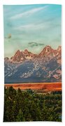 Sunrise At Grand Tetons Beach Towel