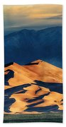 Sunrise At Great Sand Dunes Beach Towel