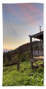 Sunrise At Mt Leconte Beach Towel