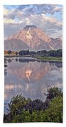 Sunrise At Oxbow Bend 4 Beach Towel