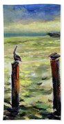 Sunrise At The Inlet By Julianne Felton 2-24-14 Beach Towel