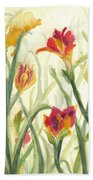 Sunrise Flowers Beach Towel