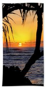 Sunrise Fuji Beach Kauai Beach Towel