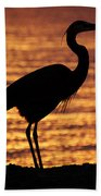 Sunrise Heron Beach Towel