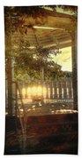 Sunrise In The Gazebo Beach Towel