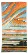 Sunrise Les Eboulements Quebec Beach Towel