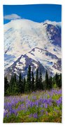 Sunrise Lupines Beach Towel