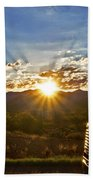 Sunrise On A Traffic Jam Beach Towel