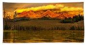 Sunrise On Little Redfish Lake Beach Towel